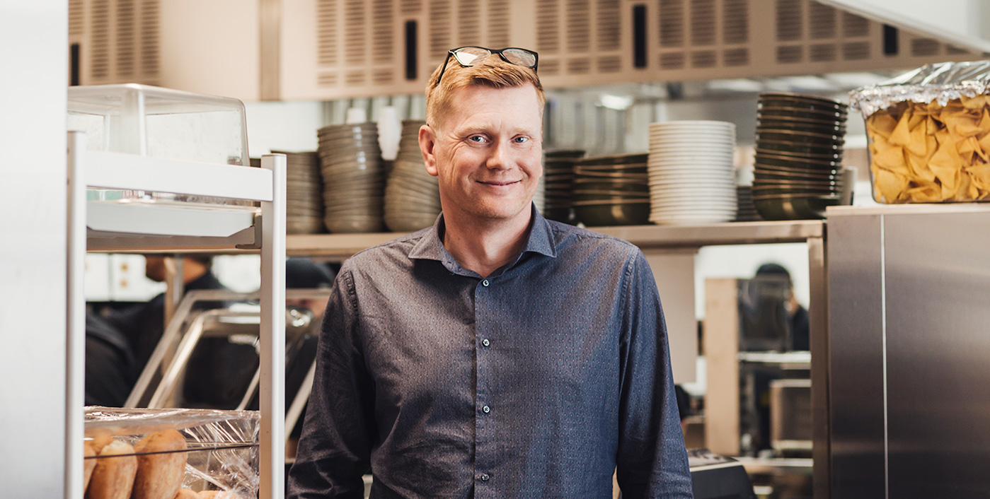 Nicklas Myntti, projektledare på Storköksinnovation i Norrköping. Underleverantör i projekt O'Learys. Bild: Fotograf Satu