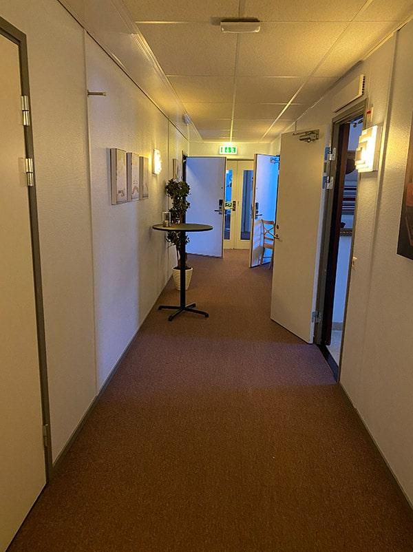 Korridor före renovering