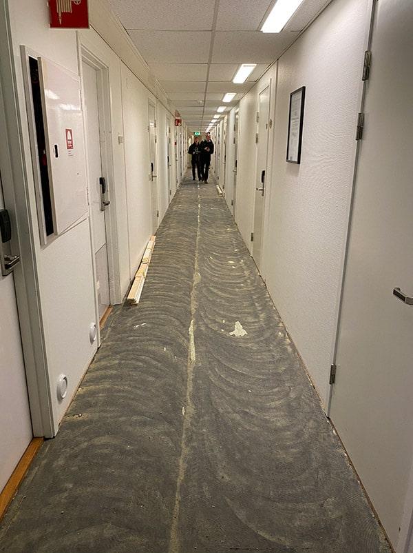 Korridor under renovering